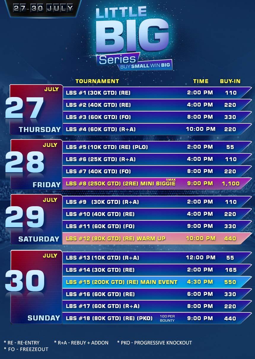 Rockingham poker tournament schedule