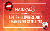 {:ru}(5.08.2018) Natural8 представляете сателлиты на APT Philippines 2017 II Main Event!{:}{:en}(5.08.2018) Natural8 presents satellites to the APT Philippines 2017 II Main Event!{:}