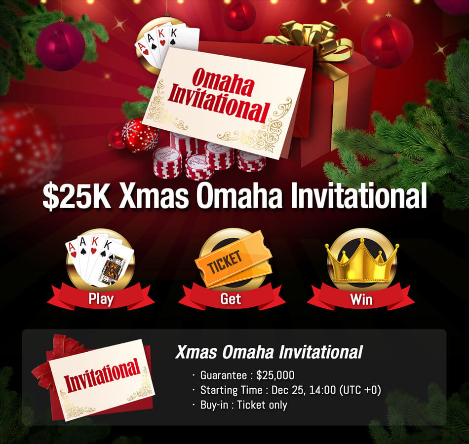 Merry Christmas Exclusive $25K Omaha Invitational Tournament.