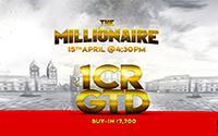 {:ru}(06.04.18) The Millionaire - это турнир с большим призовым фондом в 1 млн рупий!{:}{:en}(06.04.18) The Millionaire is tournamnet with a grand prize pool of 1 Crore!{:}