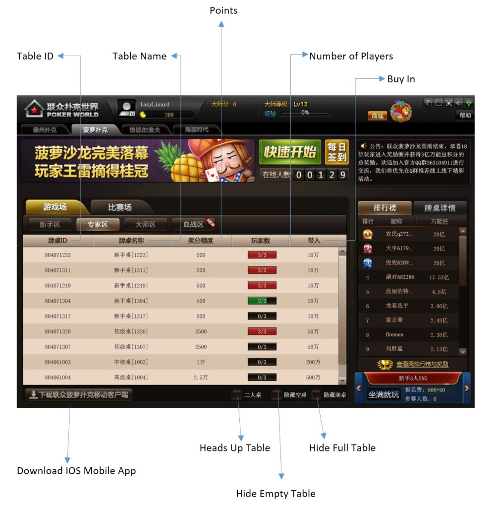 Lianzhong poker (лианзонг покер) - инструкция и перевод