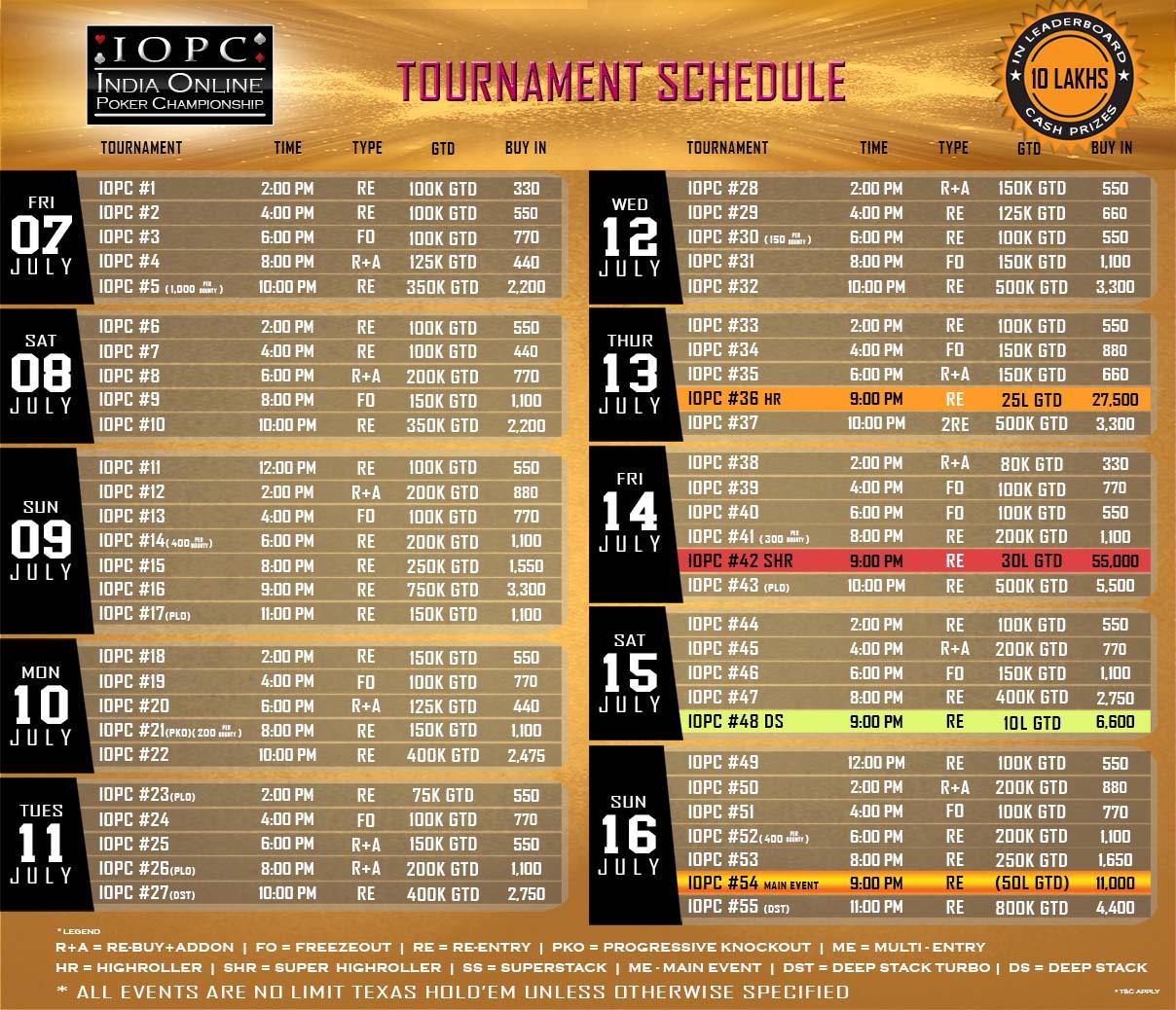 iopc schedule