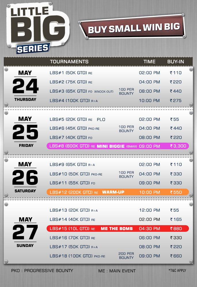 Schedule Little Big Series.
