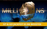 {:ru}(06.10.2018) На PartyPoker можно выиграть 2,5$ млн в акции MILLIONS Online SNG Jackpot.{:}{:en}(06.10.2018) Try to win 2,5$ mln at PartyPoker promotion MILLIONS Online SNG Jackpot.{:}