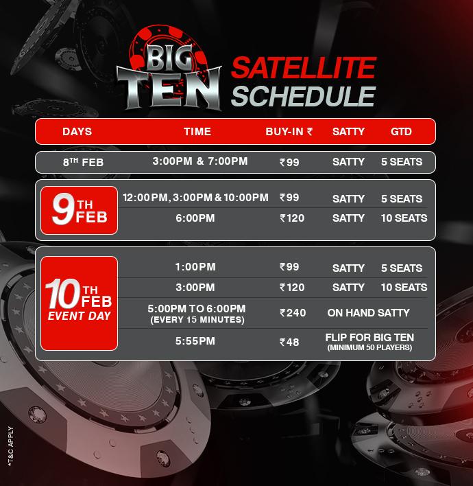 schedule bigten
