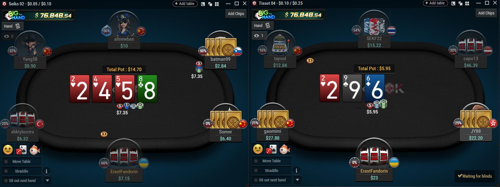 Pokerok table