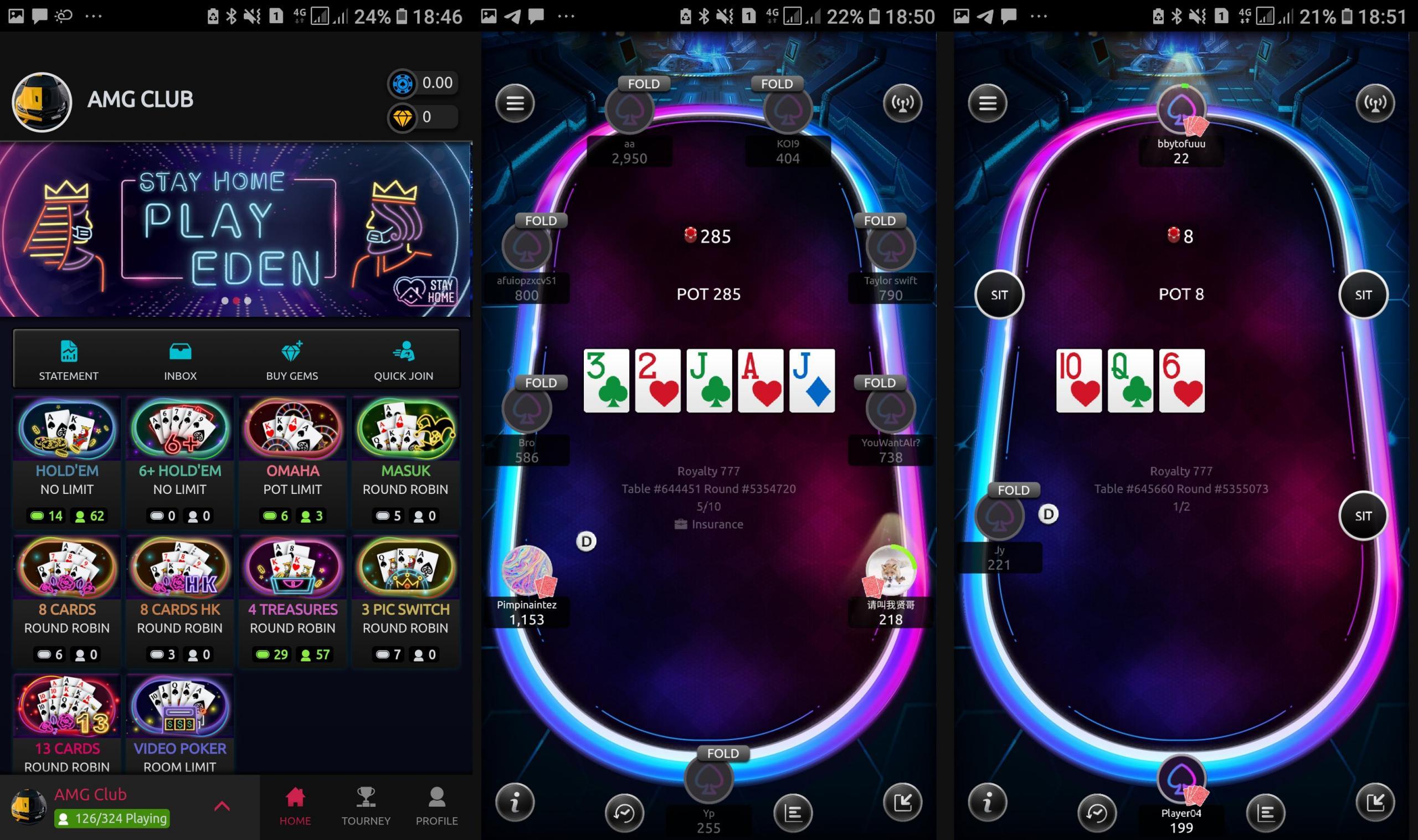 Eden poker