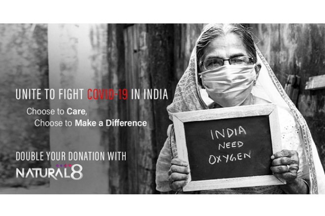 Natural8's Help Fight Covid-19 in India Campaign